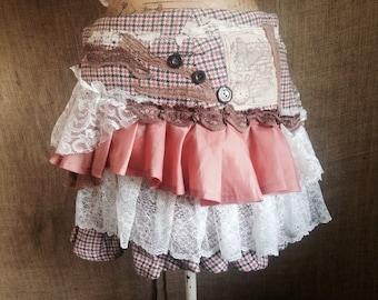 Ruffle applique skirt