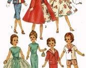 Vintage Doll Clothes PATTERN 3252 for 18 inch Miss Revlon Cissy Toni Dollikin Sweet Sue by Ideal 50s Sailor suit Dress & Short set Sheath