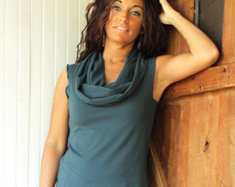 Super Cowl Tank - Organic Fabric - Made to Order - Eco Fashion - Choose Your Color