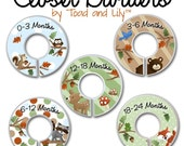 CLOSET DIVIDERS Woodland Forest Friends Kids Bedroom and Baby Nursery Art Decor