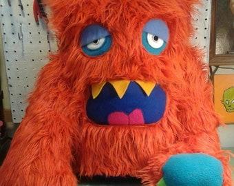 Giant 2 eyed orange monster!