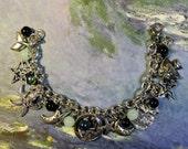 Mermaid, Dreaming of the Sea, fantasy, blue, charm bracelet