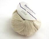 deSTASH Estelle Watercolours Ecru Ivory Tan Mohair blend knitting yarn