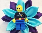 2 Navy Blue and Royal Purple Lego Boutonnieres