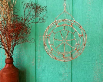 Copper Hanging Wire Sphere Basket
