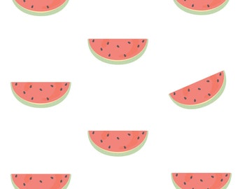 ON SALE Fabric Wall Decal - Watermelons (reusable) No PVC
