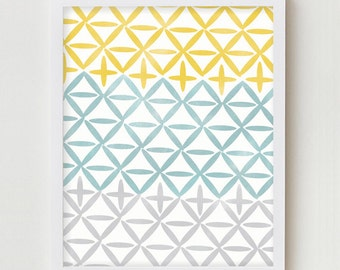 Geometric Art, Geometric Print Home Decor Wall Hanging, Simple Geometric Digital Print Wall Hanging, AbstractPrint, Abstract Wall Art