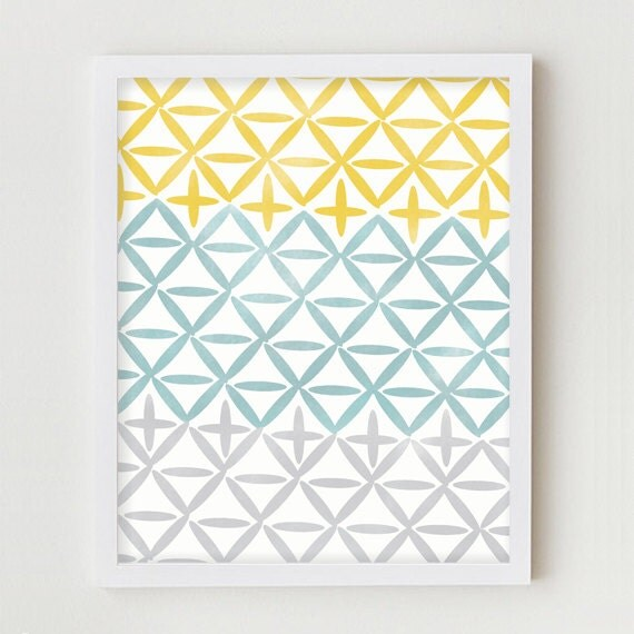 Geometric Design Wall Art : Geometric art print home decor wall hanging simple