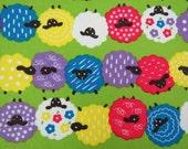 2631D -- Colorful Fun Sheeps Fabric in Spring Green, Animal Fabric