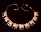 Vintage Bubble gum Pink lucite Necklace