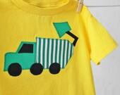 Toddler Boy's Garbage Truck Applique Shirt