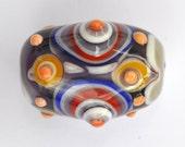 Bumpy, Spotty, Mutlicolour Artisan Lampwork Bead SRA