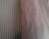 Stretch Pinstripe Cotton Twill Fabric 4 yrds and Brown Cotton Jersey Knit Interlock Tee Fabric