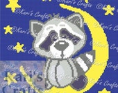 Bedtime Baby Raccoon Afghan Blanket PDF Pattern GRAPH ONLY - Instant Download
