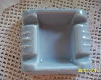 Art  Deco Style Never-Spill Ashtray Blue