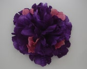 Queenie Large Purple Peony With Pink Accent Flowers Hair Flower