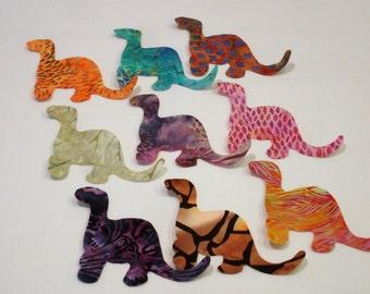 Batik Dinosaurs Iron On Appliques