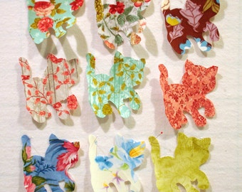Pretty Kitties Iron On Appliques, Pretty Cats Iron On Appliques