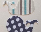 2 Diy Small Fabric Iron On Whale Appliqués