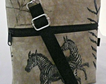 Zebra, By Marilyn, Lucy, purse, handbag, messenger, removable strap, cell phone, electronic