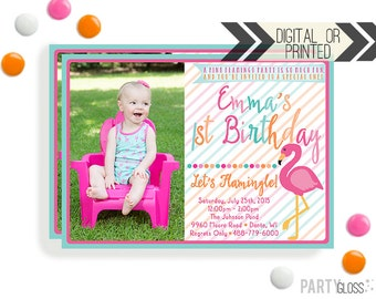 Flamingo Invitation - Digital or Printed | Flamingo Printables | Flamingo Birthday Party Invitation | Pink Flamingo Invitation | Flamingo