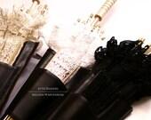 BLACK Steampunk Costume Parasol Holster Set