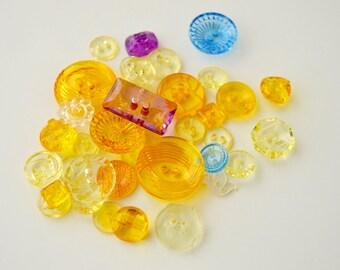 Translucent Buttons - Multi Colors x 35