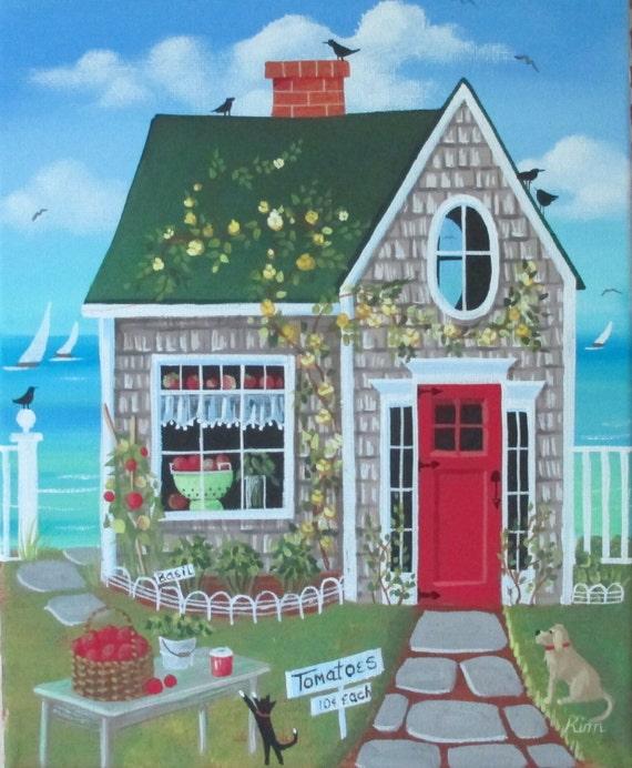 Tomates fra?ches Cottage Folk Art Print