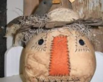 Scarecrow,Primitive Scarecrow,Crow,Fall Scarecrow,Fall Primitive,Fall Home Decor,Fall Soft Sculpture,Scarin Crows