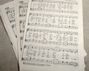 30 Pages of Hymnal Music * Ephemera * Collage Supplies * Scrap Music * Paper