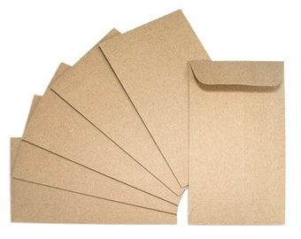 Set of 20 Open End Kraft Envelopes * kraft paper * open end * kraft * brown envelopes * stationery