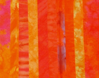 Hand Dyed Fabric - ORANGEADE Stash Pack - 10 Fat Eights
