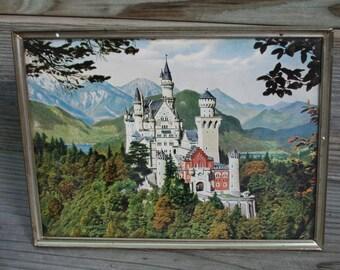 Vintage Neuschwanstein Castle Picture