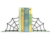 Spiderweb Metal Art Bookends - Free USA Shipping
