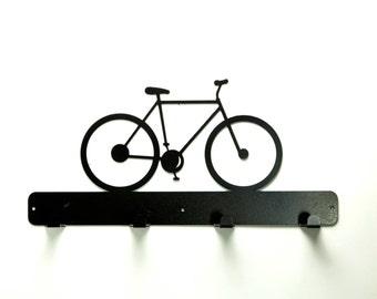 Bicycle Metal Art Coat Rack - Free USA Shipping