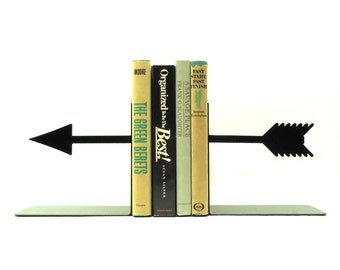 Arrow Metal Art Bookends - Free USA Shipping