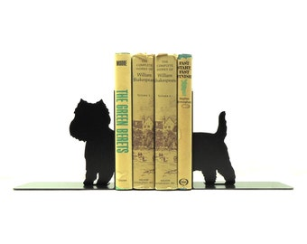 Westie Terrier Metal Art Bookends - Free USA Shipping