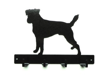Russell Terrier Metal Art Dog Leash or Key Rack - Free USA Shipping