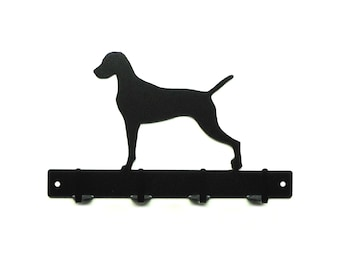 Vizsla Dog Metal Art Leash or Key Rack - Free USA Shipping