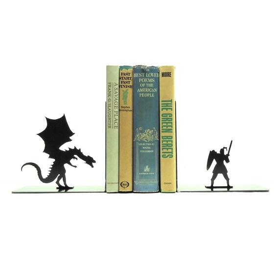 Dragon knight bookends - Dragon bookend ...
