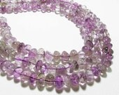 "7.5"" Gemstone STRAND - Amethyst Ametrine Beads - Pebble Nugget - Shades of Purple w/ Bits of Golden Yellow (7.5"" strand ~25 beads) - str1143"