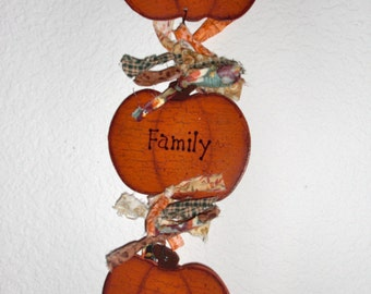 Pumpkin faith hanger