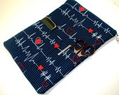 Nurse case, stethoscope and bp cuff bag - Made to Order in Calling all Nurses Print-  pockets for tools!  Can also fit large tablet