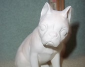 Boston Terrier Sittng  in Ceramic Bisque - Ready to Paint Boston Terrier Dog