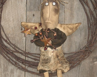 "Handcrafted Primitive Angel Doll, ""Fiona"""