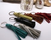 Leather Tassel Keychain - Tassel Key Fob - Tassel Key Ring - Gift - Handmade - Choose Your Color