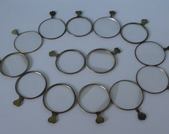 Antique Brass Monocle For Crafts. Optical lens. 1 pc.