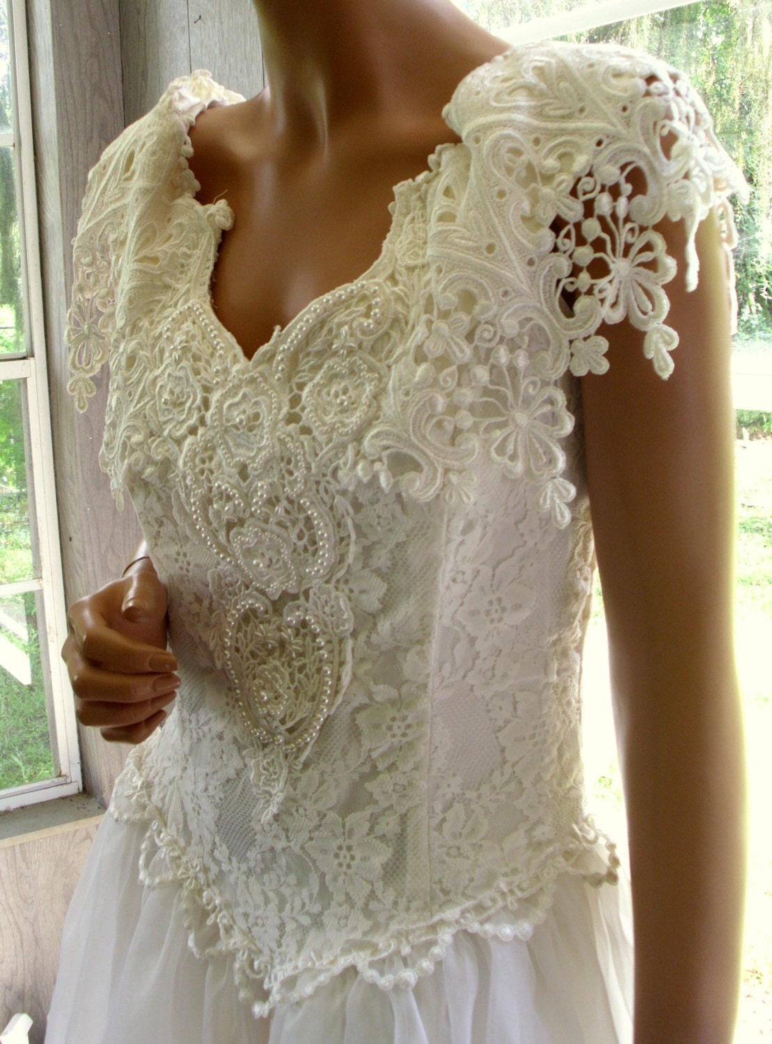 Vintage gunne sax jessica mcclintock bridal gown wedding dress for Jessica mcclintock wedding dresses outlet