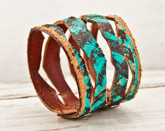 Leather Cuff Jewelry Bracelet Wristband Wrist Cuffs - Leather Accessories Christmas Gift