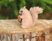Little Felt Squirrel Sewing Pattern - Felt Animal Pattern - Make Your Own Stuffed Animal - 3 inch Stuffed Squirrel